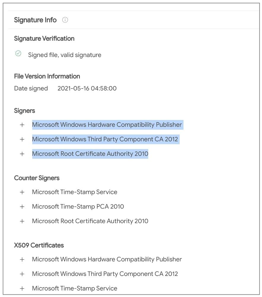 امضای مایکروسافت پای درایور حاوی روتکیت