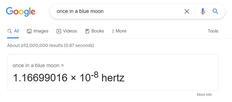 ترفندهای سرچ گوگل - blue moon