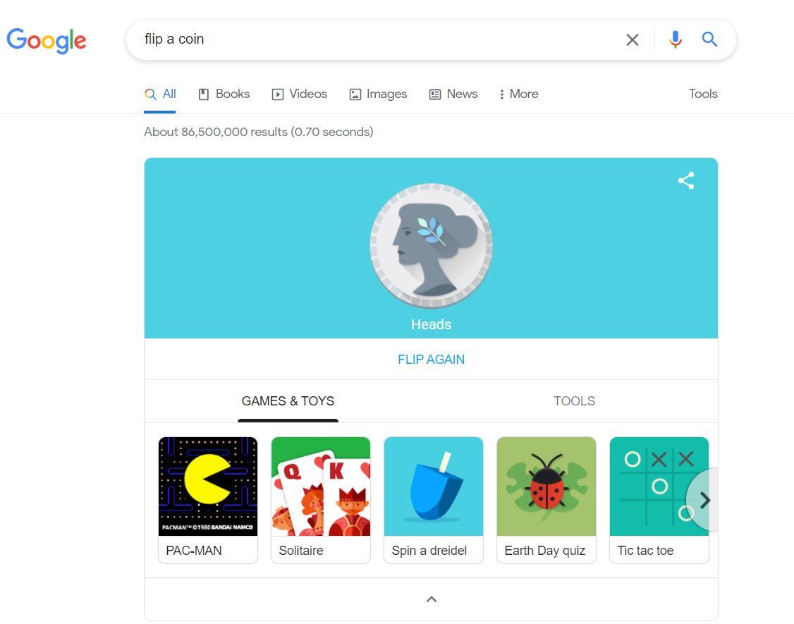 ترفندهای سرچ گوگل - بازی و ابزار