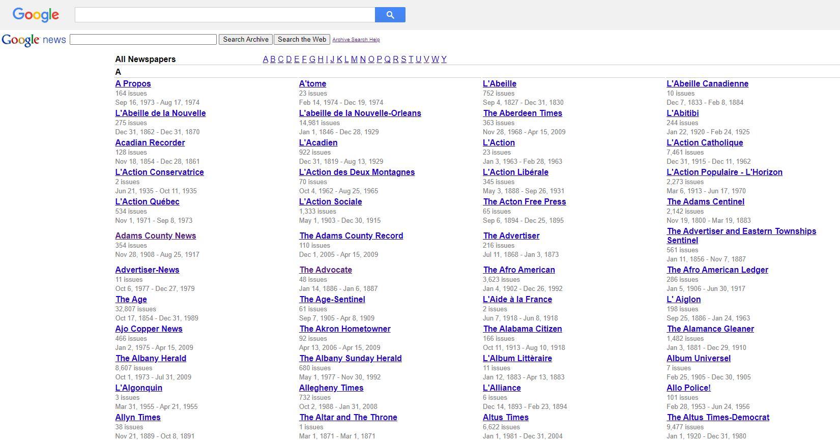 ترفندهای سرچ گوگل - newspapers