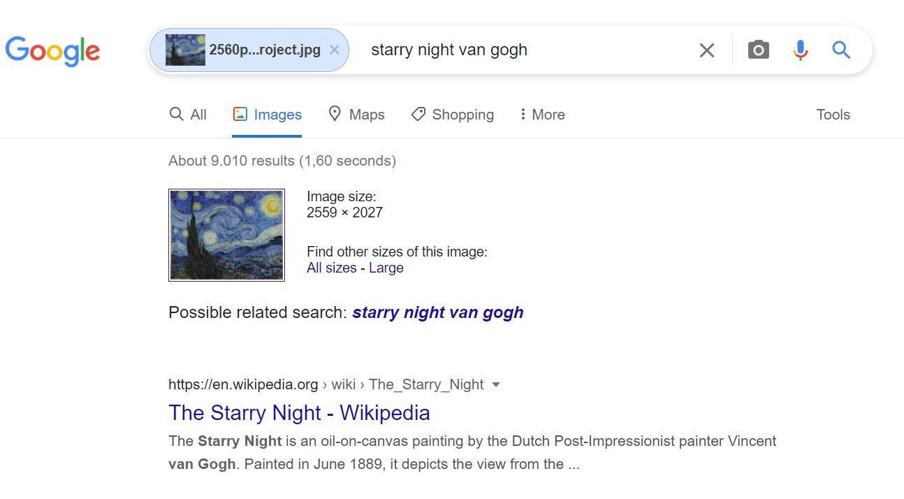 ترفندهای سرچ گوگل - reverse image