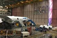 بوئینگ ۷۸۷ خطوط هوایی اتیوپی در کنار نشان شرکتهای خریدار این هواپیما