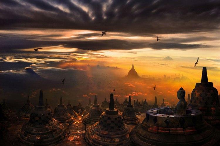 جایگاه مقدس مجسمه های باستانی در کشور اندونزی