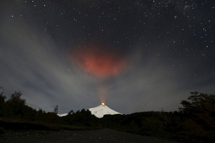 12 smoke rises from villarrica volcano as seen near the town of pucon in southern chile s 7a3ca