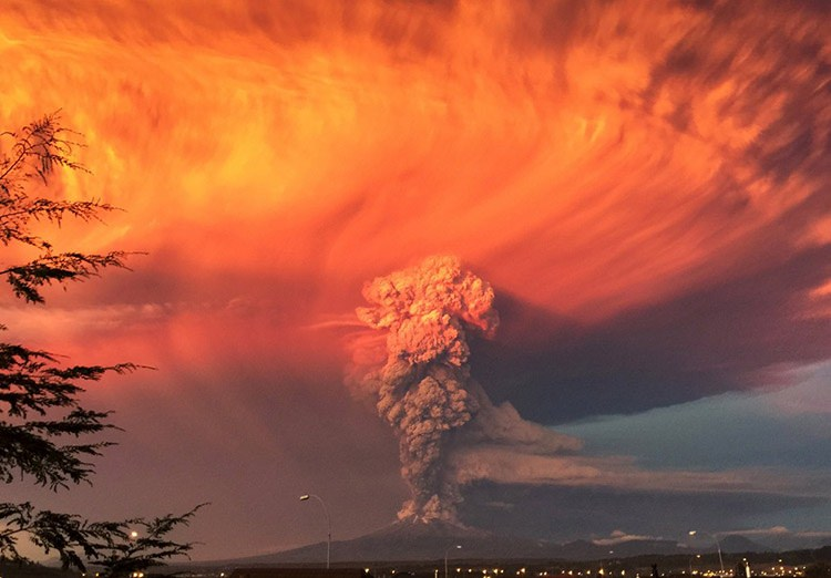 9 smoke and ash rise from the calbuco volcano as seen from the city of puerto montt s b0ee7
