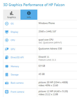 hp falcon qualcomm snapdragon 820 windows 10 mobile caaaa