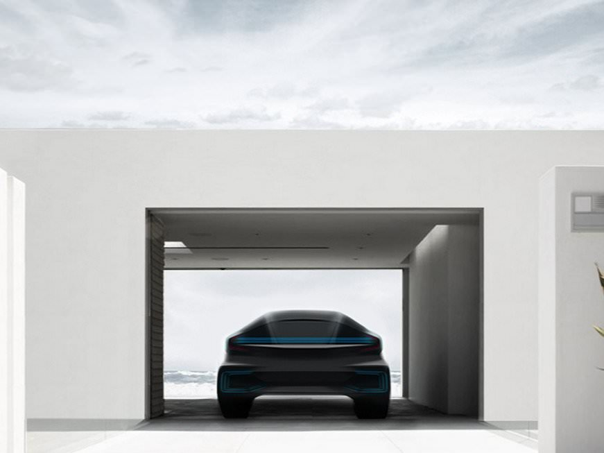 a new car start up called faraday future is taking after tesla and is planning on building a long range electric car 78989