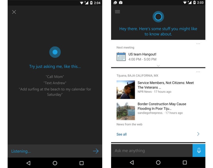 cortana for android 3 a2943