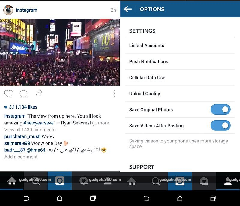 instagram setting photo backup 3b458