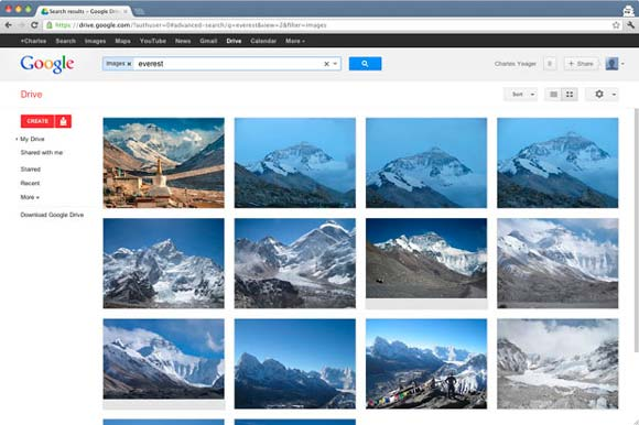 Google-Drive-Everest-search-results