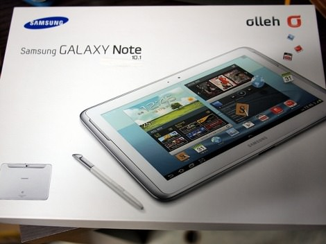 Galaxy Note 10.1 Front