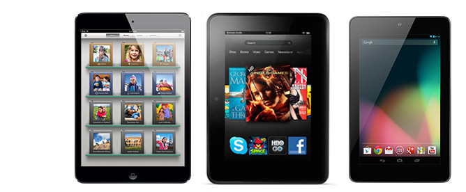 kindle fire hd ipadmini vs nexus7