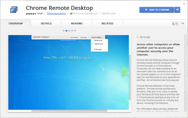 chrome remote 1
