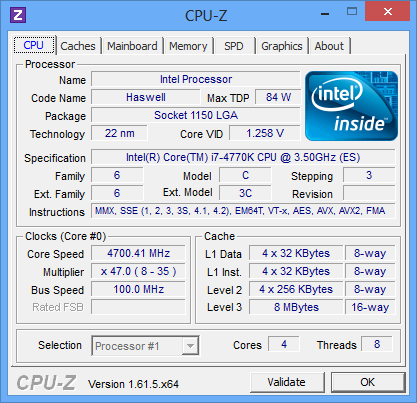 Haswell CPUZ