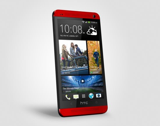 htc one red left