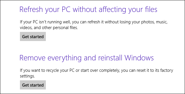 windows 8 recovery