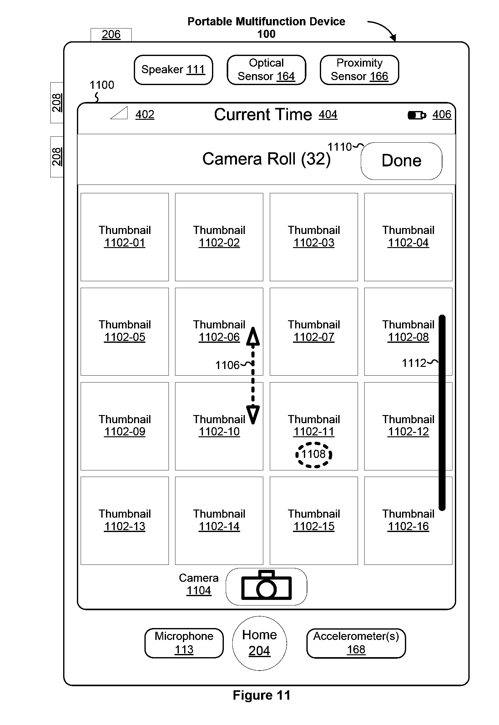 Apple Patent Multitouch Scroll Wide