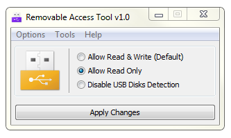 Prevent Writing Data to USB Drives
