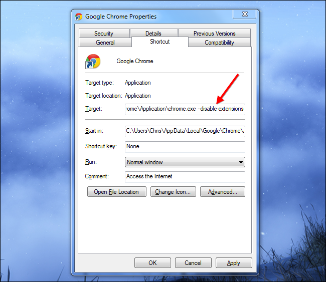 launch-chrome-in-safe-mode-without-extensions