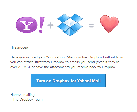 Dropbox-Yahoo-Mail
