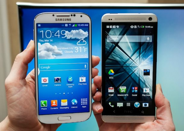Galaxy S4 and HTC One