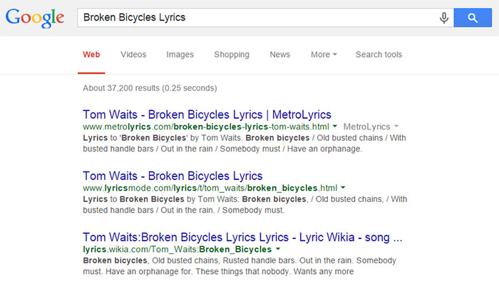 google-lyrics-waits