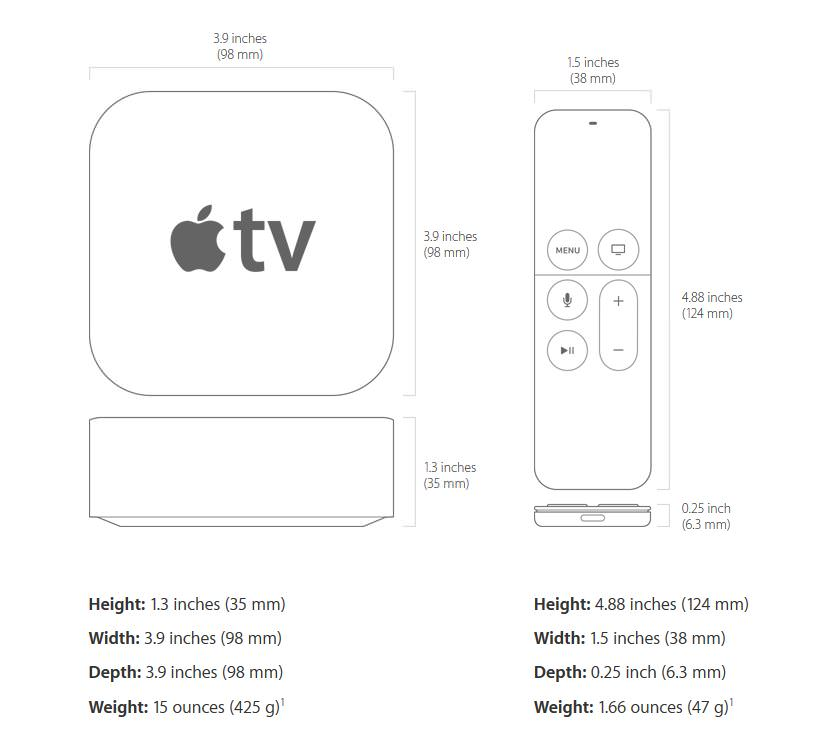apple tv spec