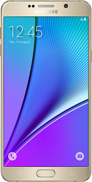 galaxy note5 gallery front gold