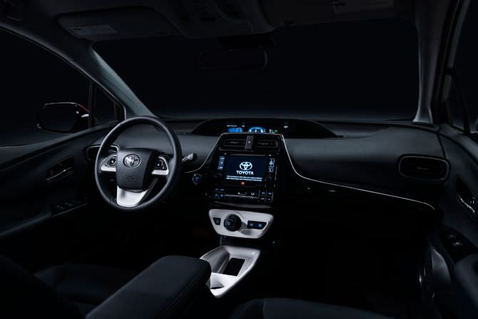 2016 toyota prius interior from passenger side