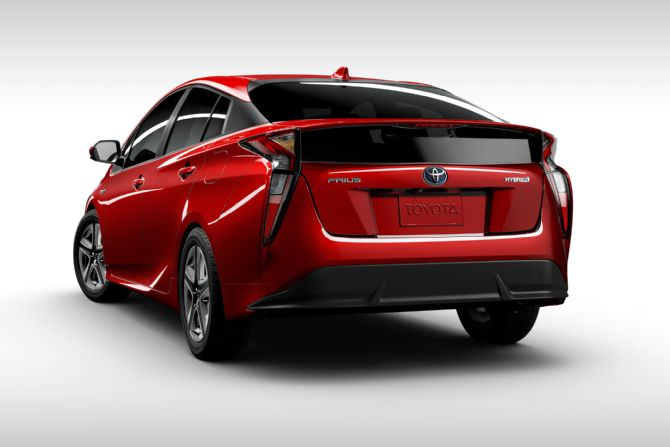 2016 toyota prius rear view wheels turns