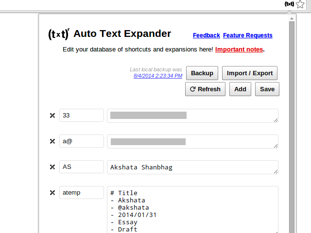 auto text expander chrome extension