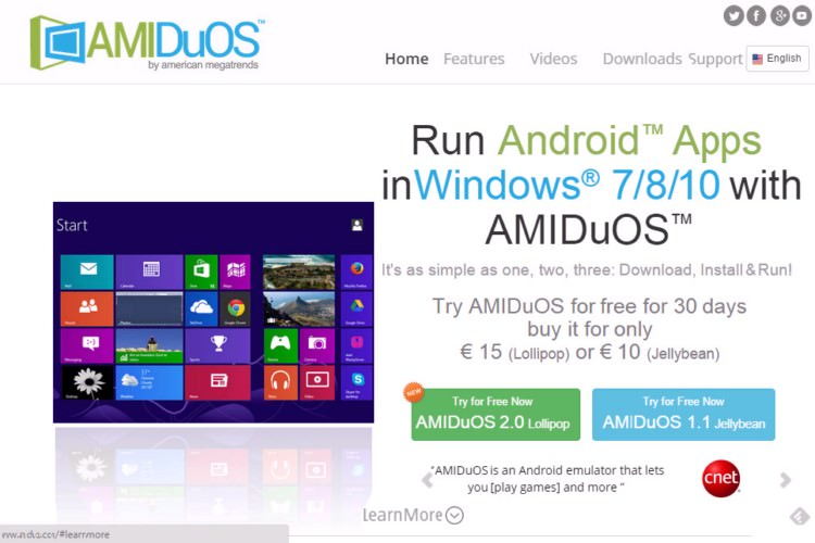 Download and install AMIDuOS 1600x1200