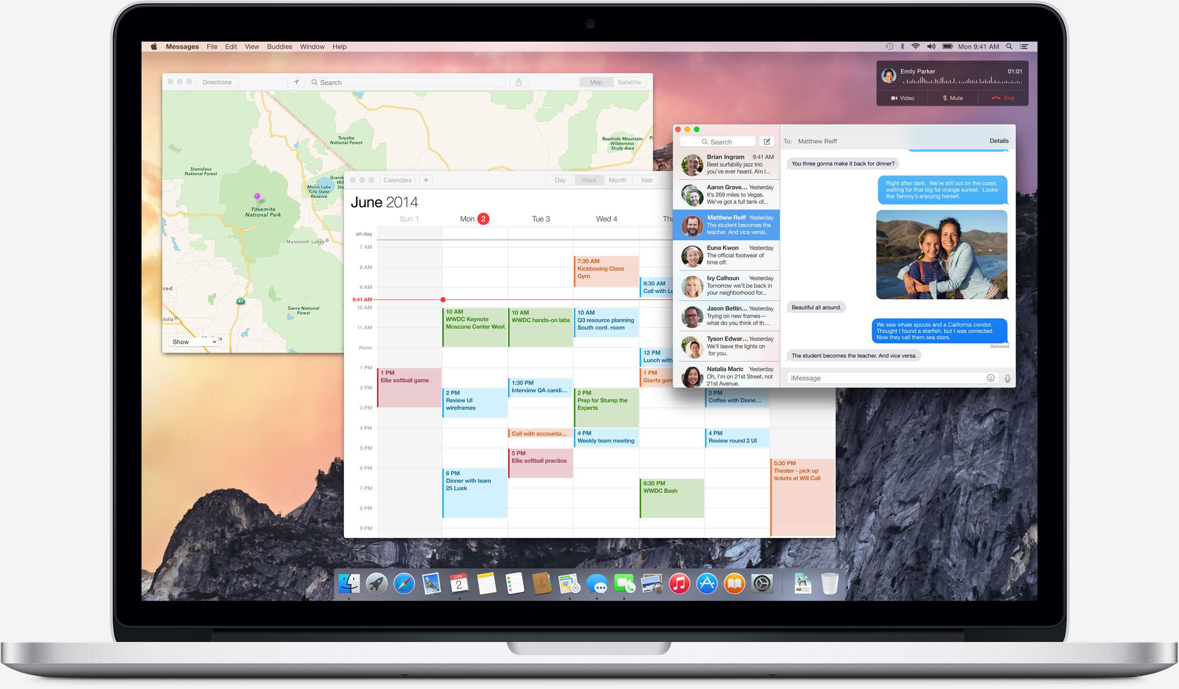 os x yosemite desktop apps