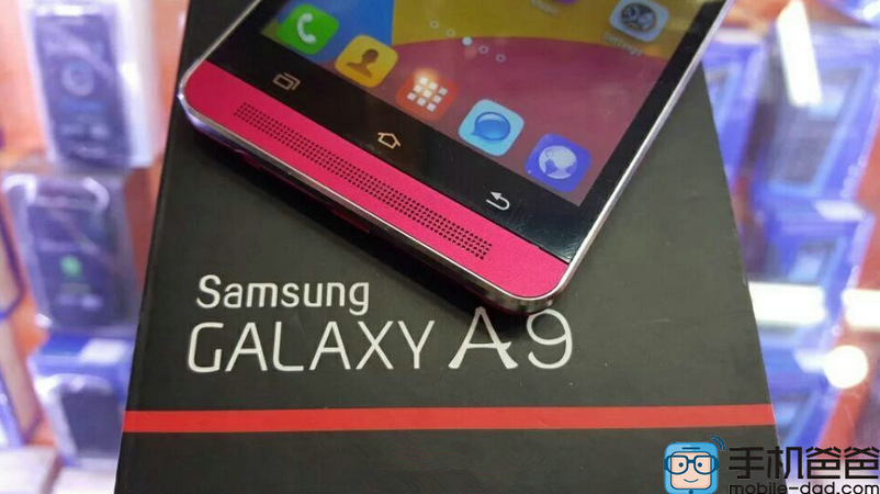 Leaked photos of the Samsung Galaxy A9 with its front facing speaker a1nd rotating camera.jpg