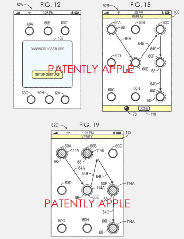 Apple patents advanced version of its passcode gesture system w600