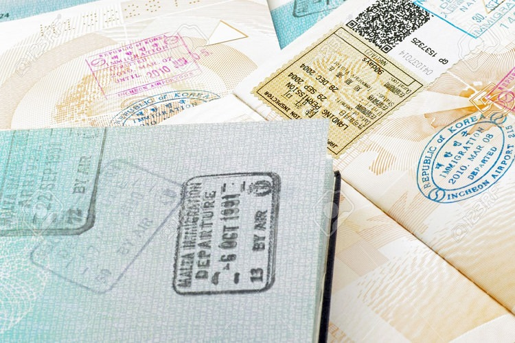 immigration stamps on passport Photo12