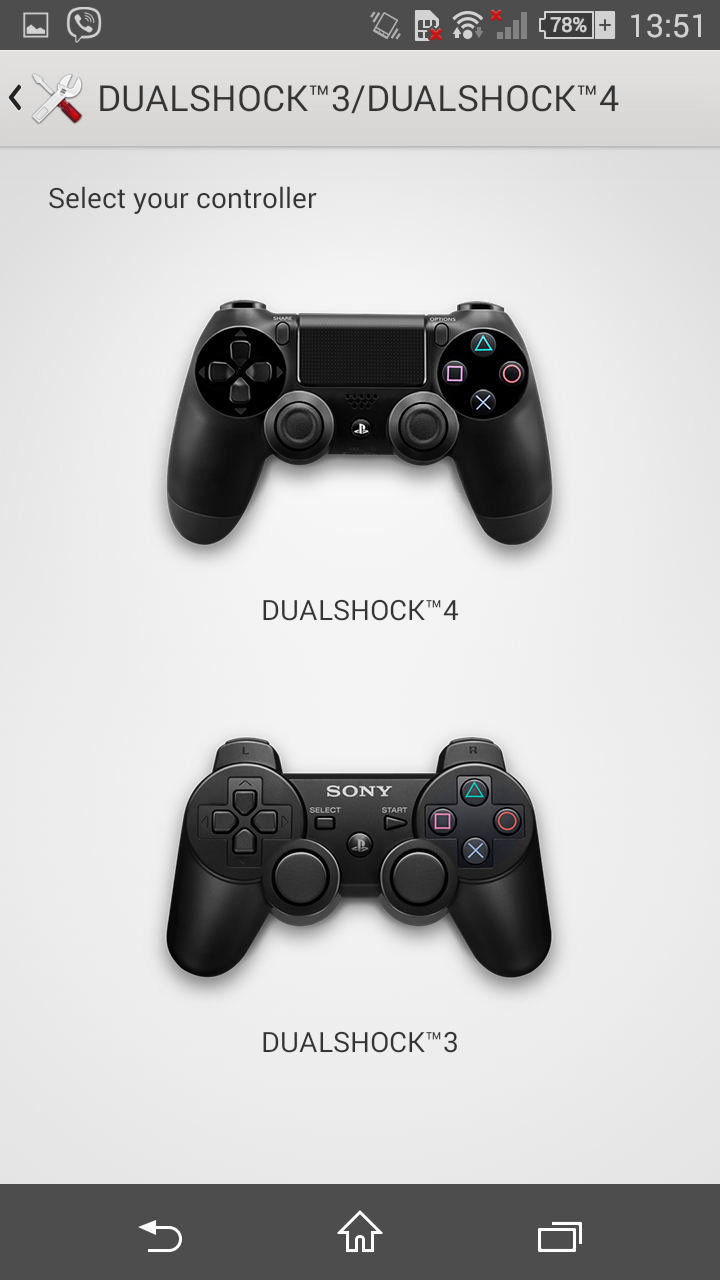 PlayStation Controller on Z3 Compact