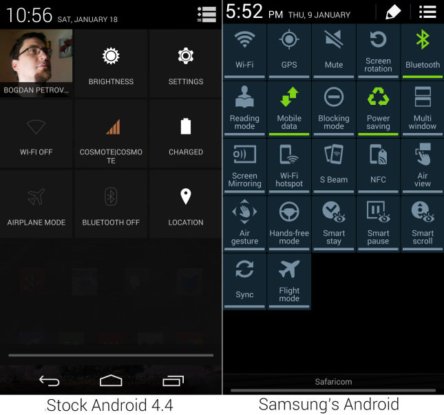Stock-Android-4.4-vs-Samsung-Touchwiz-Galaxy-Note-3-DropDown-645x602