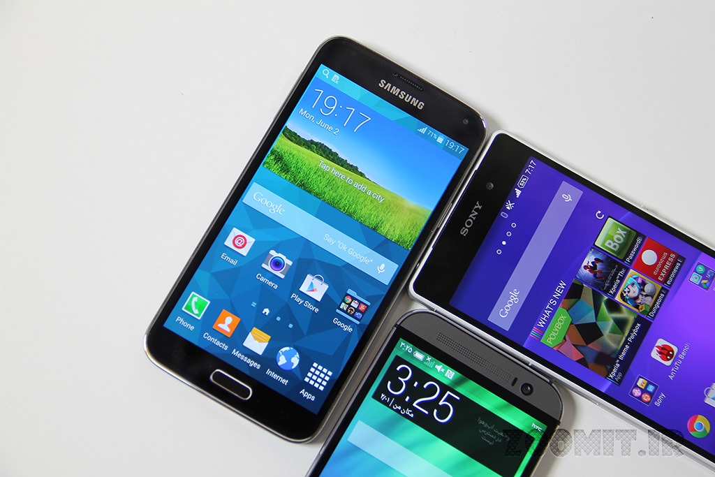 Display Test HTC One M8 vs Galaxy S5 vs Xperia Z2