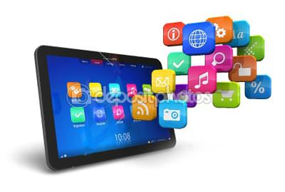 dep_7103330-Tablet-PC-with-cloud-of-application-icons