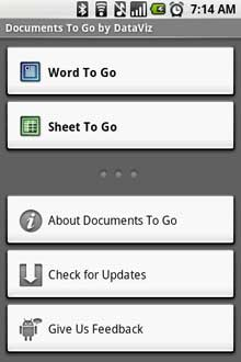 documents-to-go-start-screen