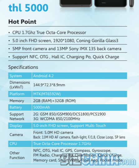 thl-5000-specifications